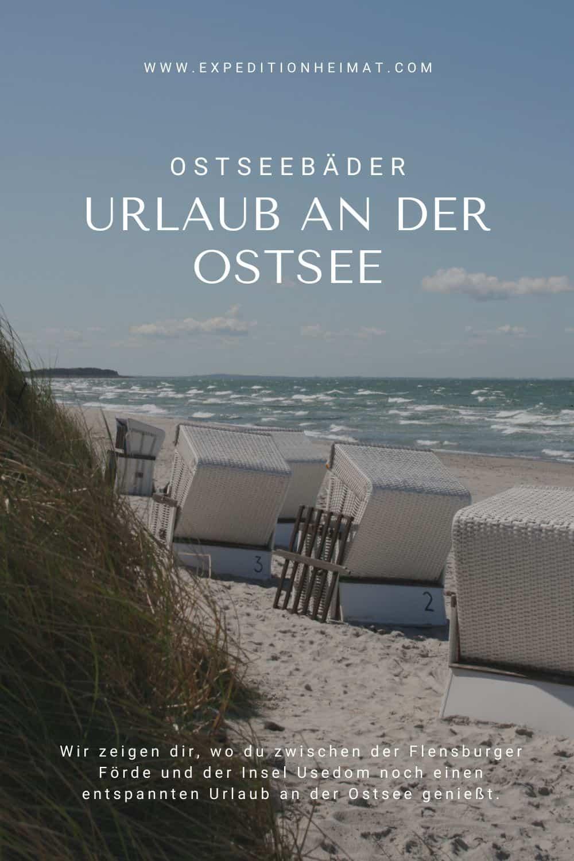 Strandkorb Urlaub an der Ostsee