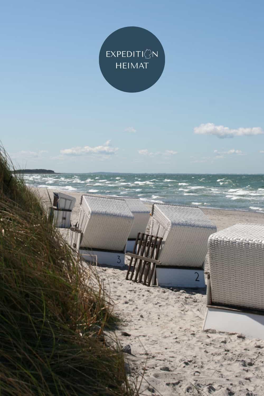 Urlaub mit Strandkorb an der Ostsee