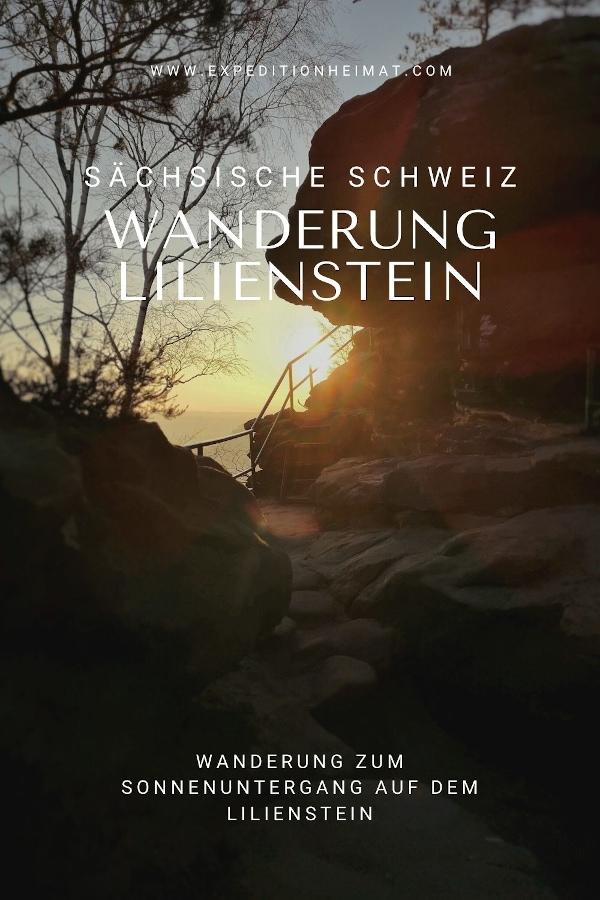 Wanderung zum Sonnenuntergang auf den Lilienstein