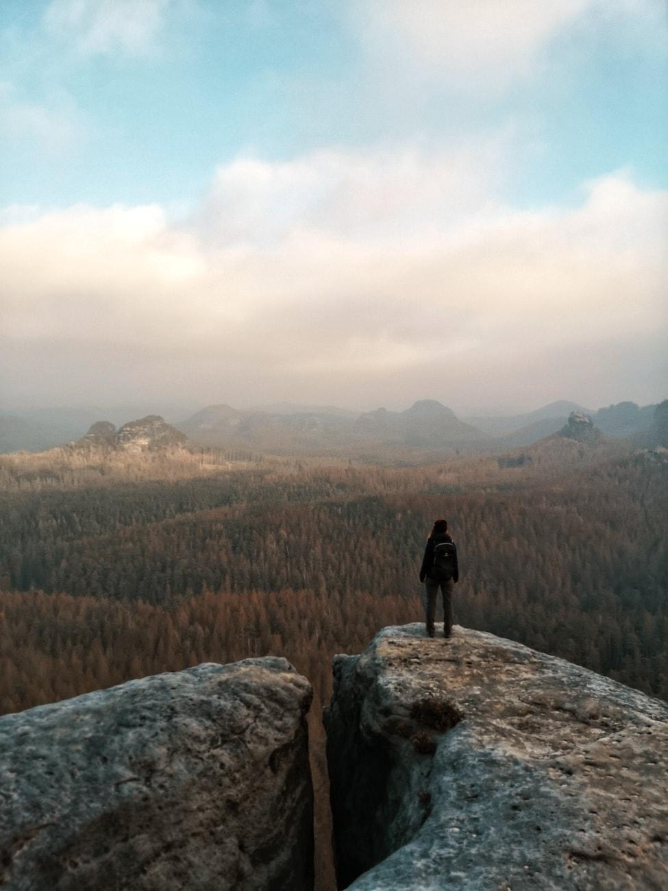 Kleiner Winterberg mit Ausblick über die Sächsische Schweiz